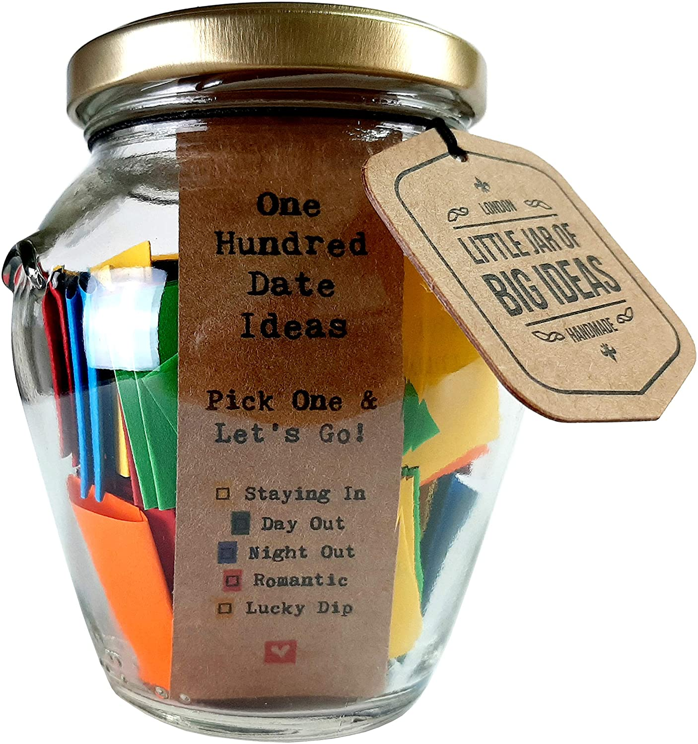 Little Jar Of Big Ideas Inspirational Loving Gifts